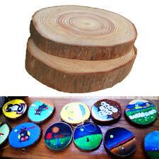 30pcs Natural Round Wood Disc Slices Shape Rustic Wedding Hobbies Craft DIY