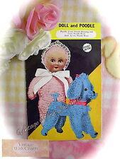 Vintage 1940s Toy Knitting Pattern Doll & Poodle Dog . Just £1.99 + FREE UK P&P