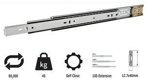 Paar Vollauszüge  Self-Close 45kg Vollauszug 350 bis 700 mm Schwerlastauszüge