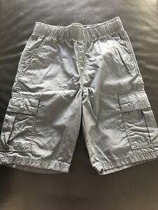 Set Of Boy's Children's Place Gray And Navy Blue Cargo Shorts Size 10-12
