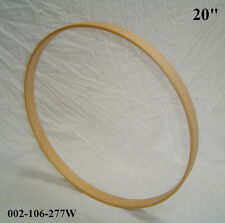 "20"" Maple Bass Drum Hoop/Ring/Rim (Rounded Front) Unfinished 002-106-277W"