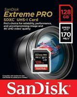 SanDisk 128GB Extreme Pro SDXC UHS-I Memory Card 170MB/s
