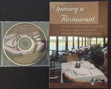 Opening a Restaurant or Other Food Business Starter kit with editable CD-rom