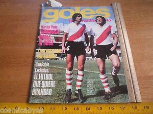 Goles Magazine Boca Soccer Argentia futbol 1975 Comelles Artico Adidas