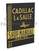 1939-1940-1941 Cadillac and LaSalle Repair Shop Manual Service Book La Salle