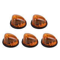 5 Amber Cover + 5 Black Base Roof Cab Marker Light Truck for 1969-1991 Chevy GMC