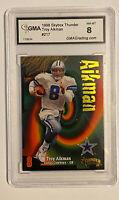 Troy Aikman 1998 Skybox Thunder #217 Card Dallas Cowboys Graded GMA 8