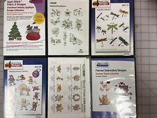 Amazing Designs / Floriani Machine Embroidery Design 6 Cd's Mixed Lot