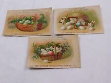 Lot of 3 Easter Ulmiset Cures Coughs & Colds Colorful Eggs Baskets Stunning F44