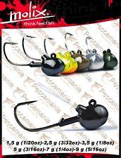 testina piombata Molix Racing Jig head finesse trota softbaits gr. 1.5-gr 9
