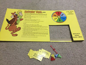 Vintage 1973 Scooby Doo Where Are You! Board Game Replacement Parts Bundle Lot