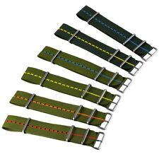 Zuludiver ® Marina Nacional de la OTAN Reloj Correa De Nylon, Verde, raso, 20mm 22mm