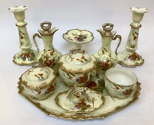 Antique French. Dressing Table Set By Elite Limoges Circa 1896-1900