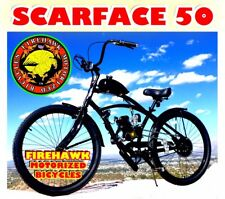 USA SELLER NEW 2018 SCARFACE 50 GAS PETROL MOTOR BIKE 48 80 CC SCOOTER MOPED