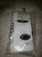 New Harry Potter Hedwig Fuzzy Slipper Sock Men Women Youth Sz 9-11 See Chart