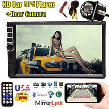7'' 2Din Car In-Dash Bluetooth Stereo Radio Mp5 Player Fm Am Usb/Aux/Tf + Camera(Fits: Rabbit)