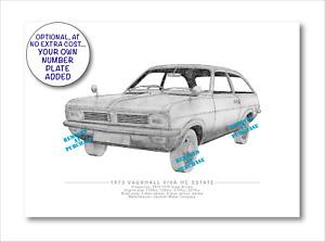 Vauxhall Viva HC Estate 1973 A5 signed print