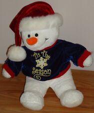 """SNOWMAN Christmas Plush 13""""H 'Tis The Season by Dan Dee"""