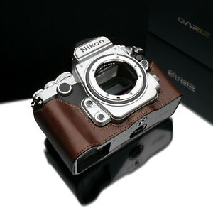 GARIZ Half Case Brown - Sorgerecht Nikon Df