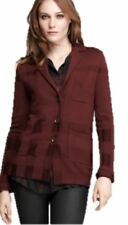 Burberry Women's Ox Blood Red Wool/Silk Jacket, X-Large