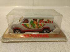 Vintage Majorette Fourgon Comercial Frutas Furgoneta 1:65 Escala de Metal Crack