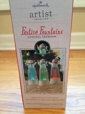 Hallmark Festive Fountain CARDINAL Snowman NEW ~ Never Removed from Box