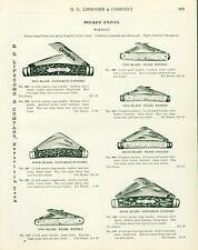 Catalog Page Ad Pocket Knives Wostenholm I.X.L.Pearl HG Lipscomb Nashville 1913