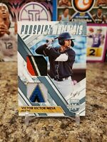 🔥VICTOR VICTOR MESA 1/1 ROOKIE 6 COLOR DUAL PATCH ONE OF ONE MIAMI MARLINS🔥