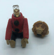 Schuco Monkey BellHop Perfume Holder c1930s Felt Mohair Plush 5in 12cm Antique