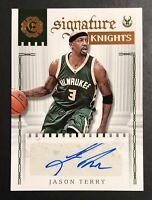 Jason Terry AUTO Panini Excalibur SIGNATURE KNIGHTS #4 2016-17 NBA Basketball