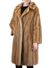 Medium/Large VINTAGE AUTUMN HAZE MINK FUR COAT w/ BEAUTIFUL LIGHT BROWN COLOR!