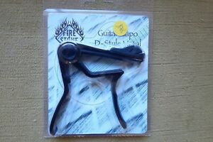 Neuf - D-Style Metal Guitar Capo - Acoustic/Electric - Highgloss Black -