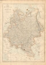 1863  LARGE ANTIQUE MAP - DISPATCH ATLAS- RUSSIA IN EUROPE