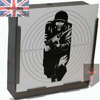 100 Military Figure 11 Shooting Targets 14cm card Airsoft Air Rifle (Deluxe 275g