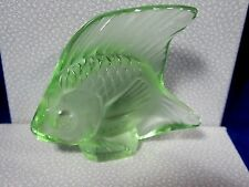 LALIQUE CRYSTAL FISH LIGHT GREEN #3001100 BRAND NIB FRENCH WATER PARIS SAVE$ F/S