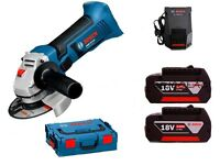 CORDLESS SMALL ANGLE GRINDER BOSCH GWS 18V-LI WITH 2 LITIUM BATTERIES 4,0 Ha