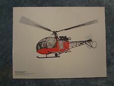Vintage Teaching Picture - Helicopter - Nursery Decor - Wall Decor