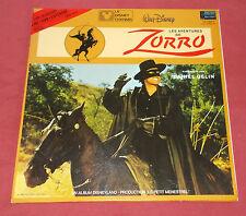 ZORRO LP + LIVRET LP DISNEY RACONTE PAR GELIN TTBE