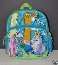 "ADVENTURE TIME SCHOOL BACKPACK SMALL 12"" MASSIVE ISLAND JAKE FINN FRIENDS NWT"
