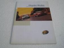 Prospekt Chrysler Stratus Cabrio, 1998 - deutsch !!!