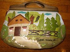 AUTHENTIC ONE OF A KIND BRACCIALINI TUA HOME SWEET HOME AMAZING CLUTCH TOTE BAG