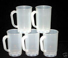 12 Beer Steins/ Holds 1 Pint, Color Frosted, Made in Amerca,. Usa Lead Free*