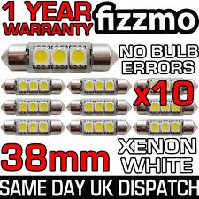 10x libre de error Canbus 3 Smd Led 38mm 239 272 C5w Xenon Blanco número Placa Bombilla