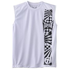 Tapout UFC Boys Sleeveless T-shirt Size Small(8) White/Black 100% Polyster