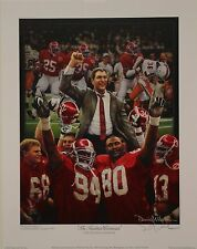 """Alabama football 1992 NC """"The Tradition Continues""""signed print by Daniel Moore"""