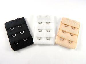 3 x Bra Extender, 2 Hook,  Bra Strap, No Sewing - 3 colours, Underwear Strapless