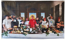 The Last Send Full Send Nelk boys Last Supper Parody Flag 3x5ft Banner Tapestry