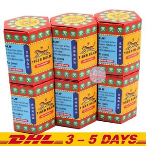 Pack 6 : 30g Red Tiger balm Pain Relief Ointment Muscular Aches Pain Thai Herbal