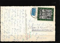 BRD 139 Briefe/Belege 2.Wahl: Marke stark beschädigt, EF auf Postkarte