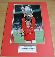 Teddy Sheringham SIGNED autograph 16x12 photo display Manchester United & COA